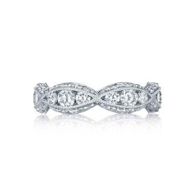 Tacori Platinum Classic Crescent Diamond Wedding Band