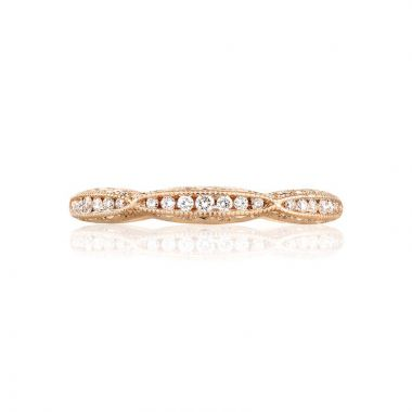 Tacori 18k Rose Gold Crescent Diamond Wedding Band