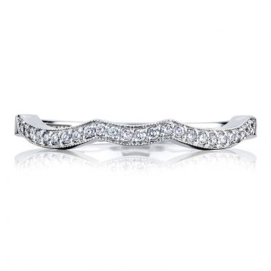 Simply Tacori Platinum Diamond Curved Women's Wedding Band