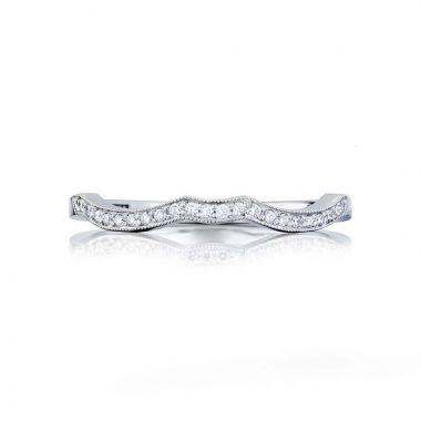 Tacori Platinum Ribbon Curved Wedding Band
