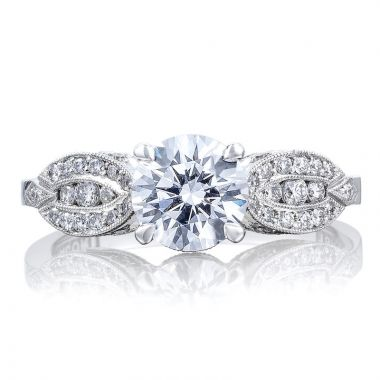 Tacori Platinum Ribbon Straight Diamond Engagement Ring