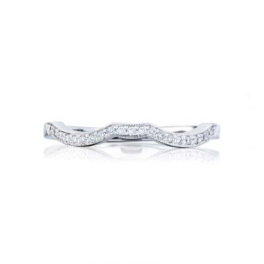 Tacori Platinum Ribbon Curved Wedding Band