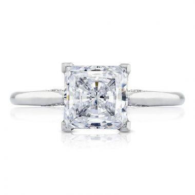 Tacori 18k White Gold Simply Tacori Solitaire Diamond Engagement Ring