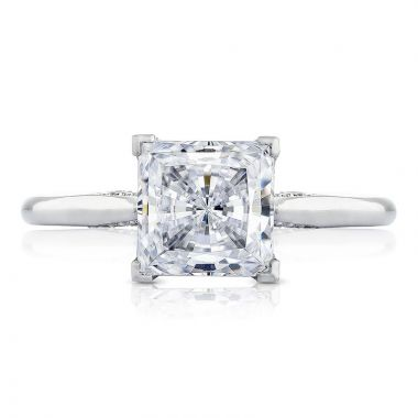 Tacori Platinum Simply Tacori Solitaire Diamond Engagement Ring