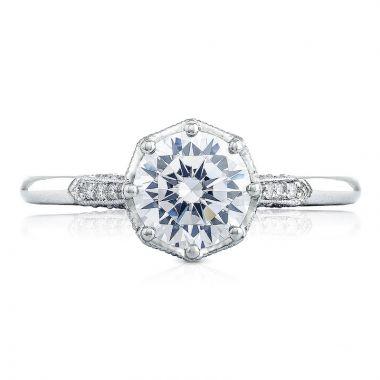 Tacori Platinum Simply Tacori Straight Diamond Engagement Ring