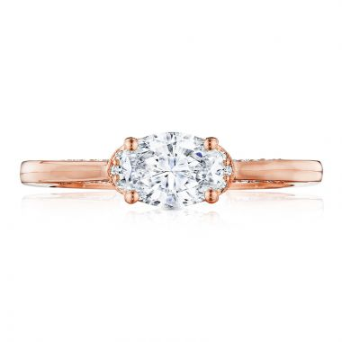 Tacori 18k Rose Gold Simply Tacori Solitaire Diamond Engagement Ring