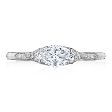 Tacori 18k White Gold Simply Tacori Straight Diamond Engagement Ring