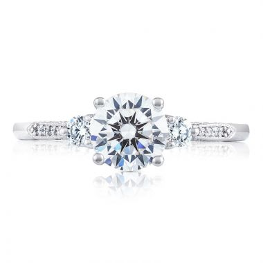 Tacori 18k White Gold Simply Tacori 3 Stone Diamond Engagement Ring