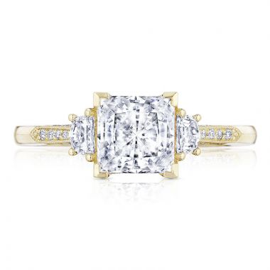 Tacori 18k Yellow Gold Simply Tacori 3 Stone Diamond Engagement Ring