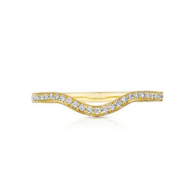 Tacori 18k Yellow Gold Sculpted Crescent Curved Wedding Band