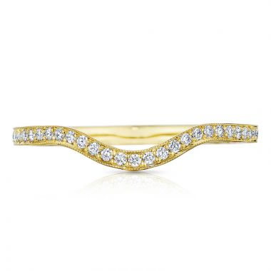 Tacori 18k Yellow Gold Sculpted Crescent Diamond Curved Women's Wedding Band