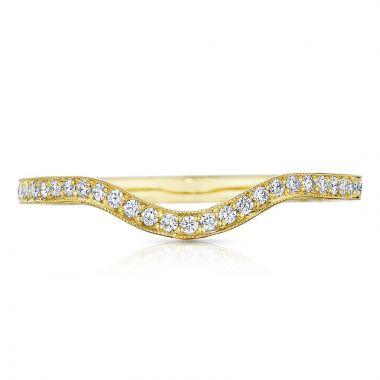 Tacori 18k Yellow Gold Sculpted Crescent Diamond Curved Women's Wedding Band