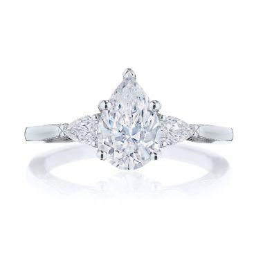 Tacori Platinum Simply Tacori 3 Stone Diamond Engagement Ring