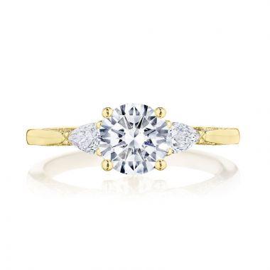 Tacori 18k Yellow Gold Simply Tacori 3 Stone Diamond Engagement Ring
