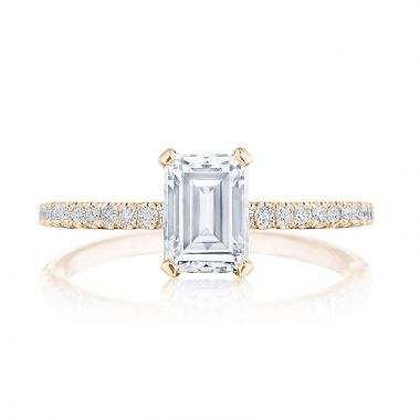 Tacori 18k Rose Gold Simply Tacori Straight Diamond Engagement Ring