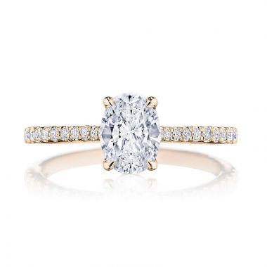 Tacori 18k Rose Gold Simply Tacori Straight Diamond Engagement Ring