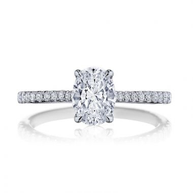 Tacori 18k White Gold Simply Tacori Straight Diamond Engagement Ring