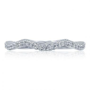 Tacori Platinum Ribbon Anniversary Diamond Women's Wedding Band