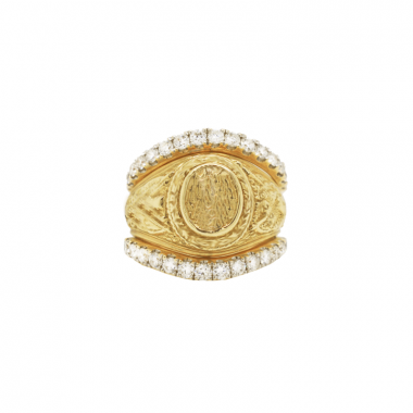 14k Yellow Gold Classic Diamond Ring Guard
