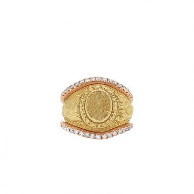 14k Rose Gold Petite Classic Diamond Ring Guard