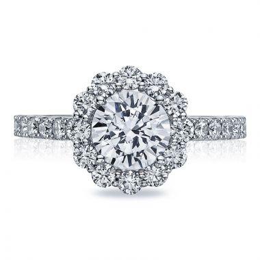 Tacori 18k White Gold Full Bloom Halo Diamond Engagement Ring