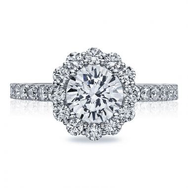 Tacori Platinum Full Bloom Halo Diamond Engagement Ring