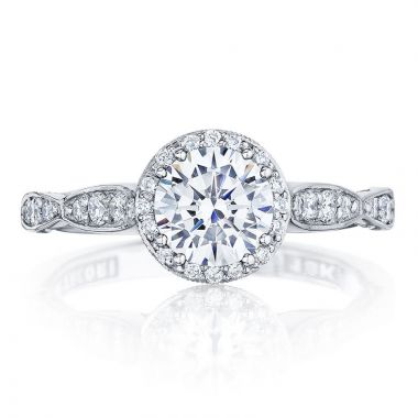 Tacori Platinum Dantela Straight Diamond Engagement Ring