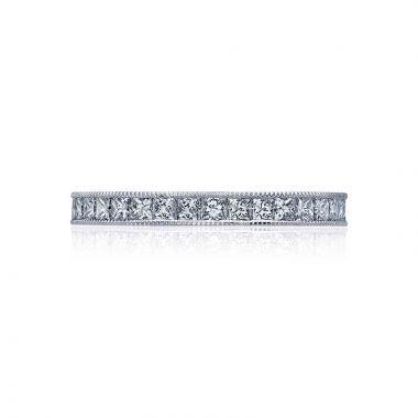 Tacori Platinum Sculpted Crescent Eternity Wedding Band
