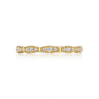 Tacori 18k Yellow Gold Sculpted Crescent Diamond Wedding Band