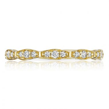 Tacori 18k Yellow Gold Sculpted Crescent Anniversary Diamond Women's Wedding Band