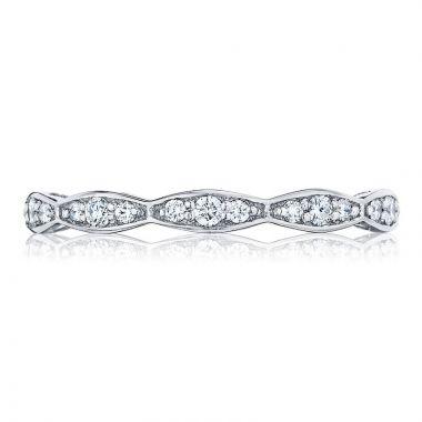 Tacori Platinum Sculpted Crescent Eternity Diamond Women's Wedding Band