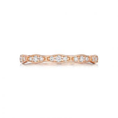 Tacori 18k Rose Gold Sculpted Crescent Diamond Wedding Band