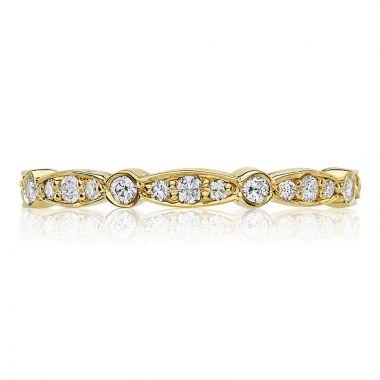 Tacori 18k Yellow Gold Sculpted Crescent Eternity Diamond Women's Wedding Band