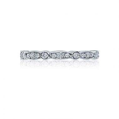 Tacori Platinum Sculpted Crescent Eternity Wedding Band