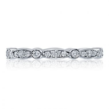 Tacori Platinum Sculpted Crescent Eternity Diamond Women's Wedding Band