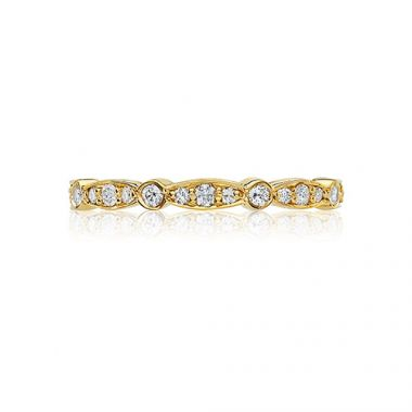 Tacori 18k Yellow Gold 0.43ct Diamond Wedding Band