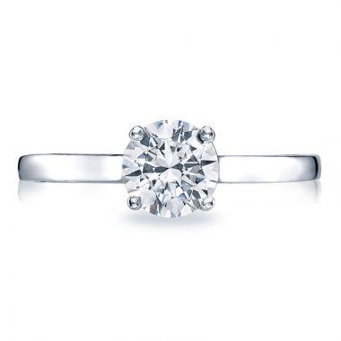 Tacori Platinum Sculpted Crescent Solitaire Diamond Engagement Ring