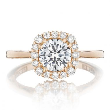Tacori 18k Rose Gold Full Bloom Halo Diamond Engagement Ring