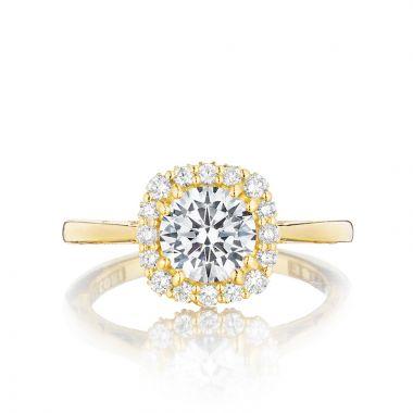 Tacori 18k Yellow Gold Full Bloom Halo Diamond Engagement Ring
