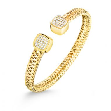 Roberto Coin 18k Yellow Gold Primavera Diamond Cuff Bracelet