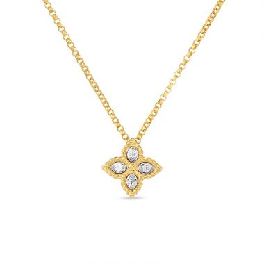 Roberto Coin 18k Yellow Gold Princess Flower Diamond Pendant
