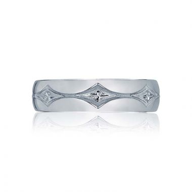 Tacori Platinum Classic Crescent Wedding Band
