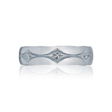 Tacori Platinum .01ct Diamond Wedding Band