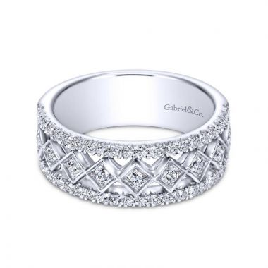 Gabriel & Co. 14k White Gold Contemporary Diamond Ring