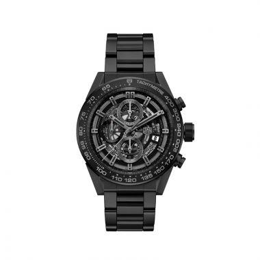 TAG Heuer Carrera Calibre Heuer 01 Automatic Steel & Black Ceramic 45mm Watch