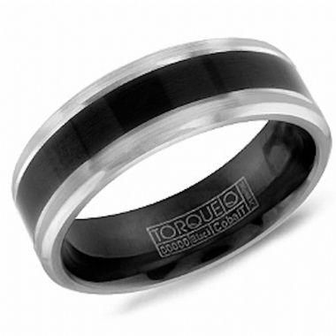 Crown Ring Black Cobalt Classic Wedding Band
