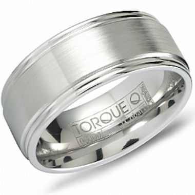 Crown Ring White Cobalt Classic Wedding Band