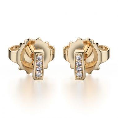 Michael M 14k Yellow Gold Diamond Stud Earrings