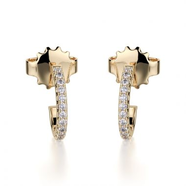 Michael M 14k Yellow Gold Diamond Huggies Earrings