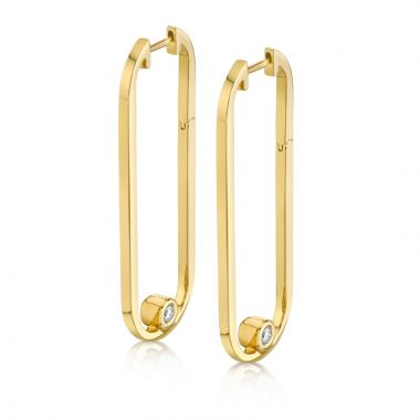 Michael M 14k Yellow Gold Diamond Earring